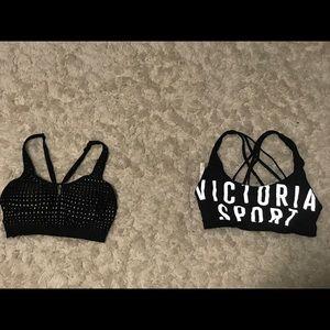 2 Victoria's Secret sports bras barely worn size S